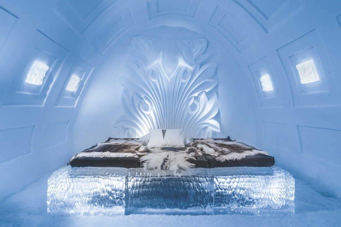 A room at the ICEHOTEL, VIE Magazine June 2018