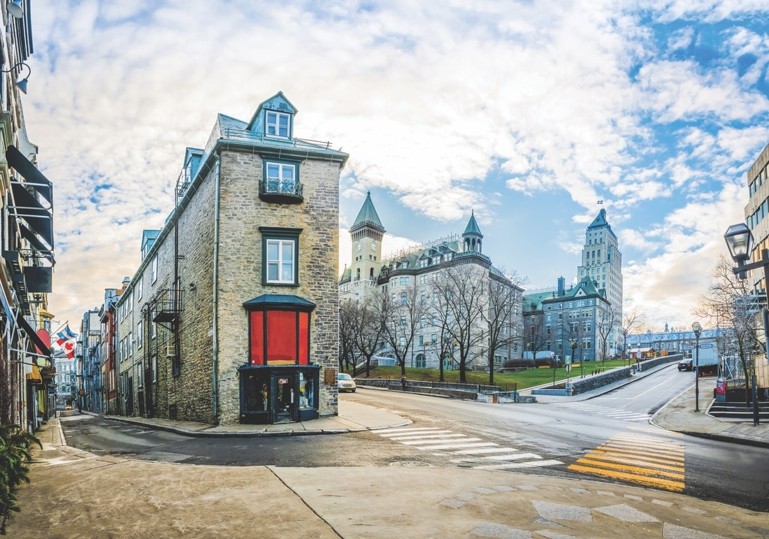 The architecture of Québec City is a prominent indication of its European roots