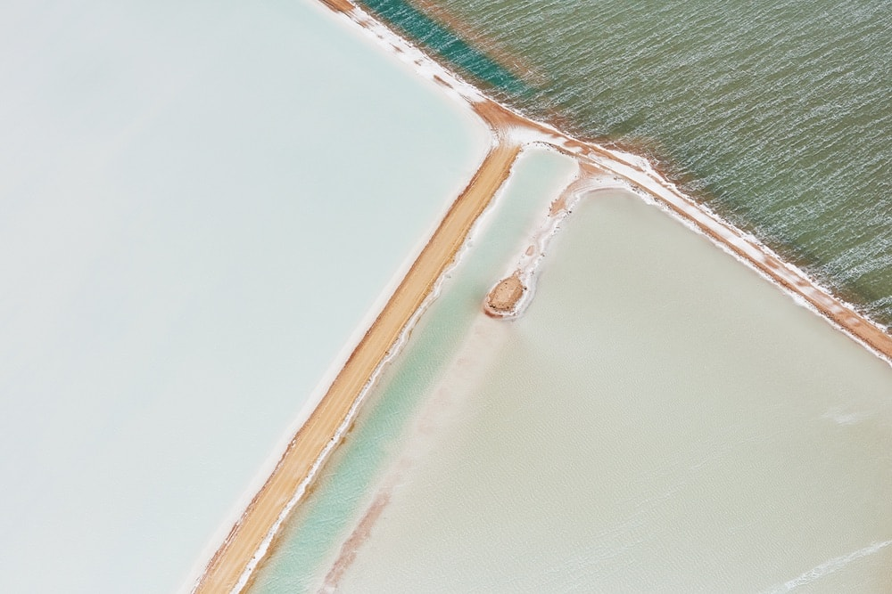 Salt & Sky brings landscapes and linear compositions together in a series depicting salt fields in Western Australia.