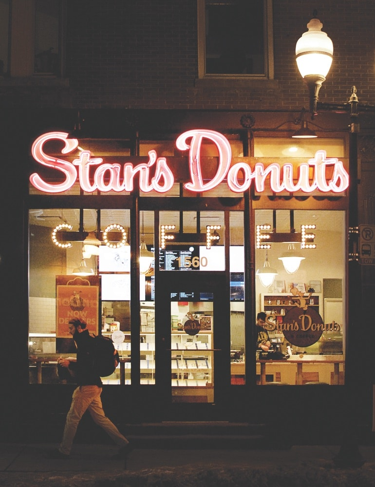 If you're craving something sweet, doughnuts are the way to go in Chicago! Stan's Donuts has three locations to help you get your fix.