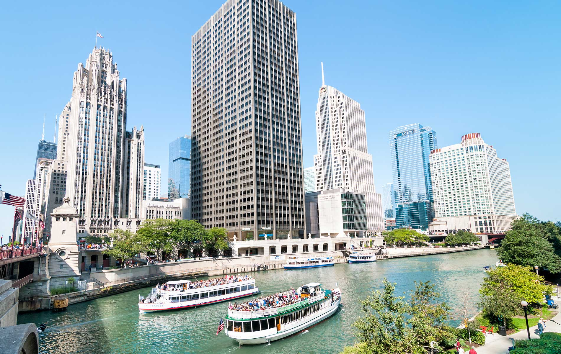 The Chicago Architecture Foundation River Cruise is a staple for visitors who wish to learn about the city's unique architectural history.