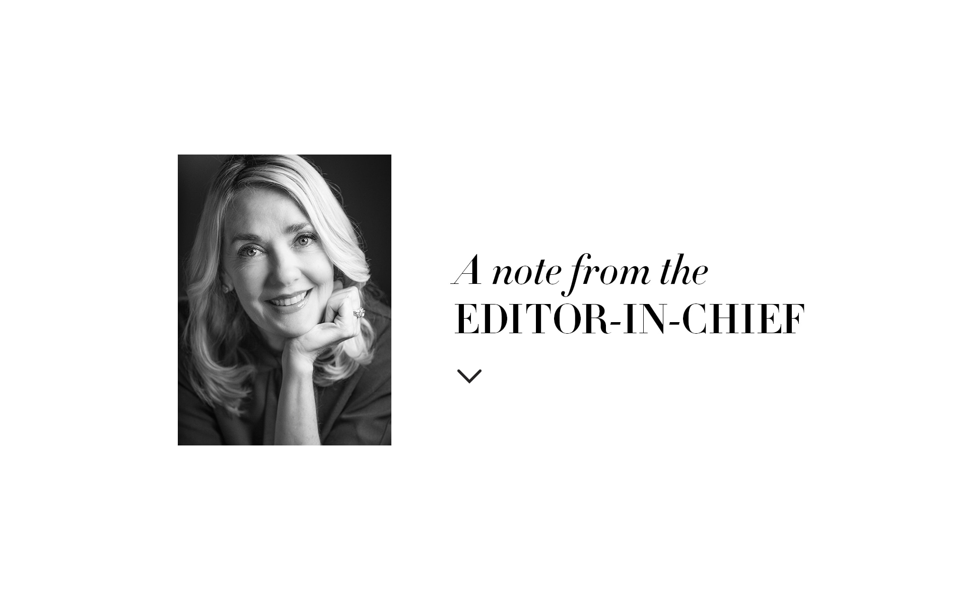 VIE Magazine editor-in-chief note Lisa Burwell