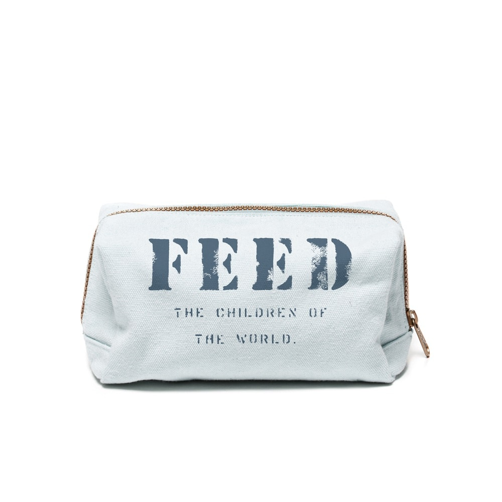 FEED's travel collection's cosmetic case in light blue