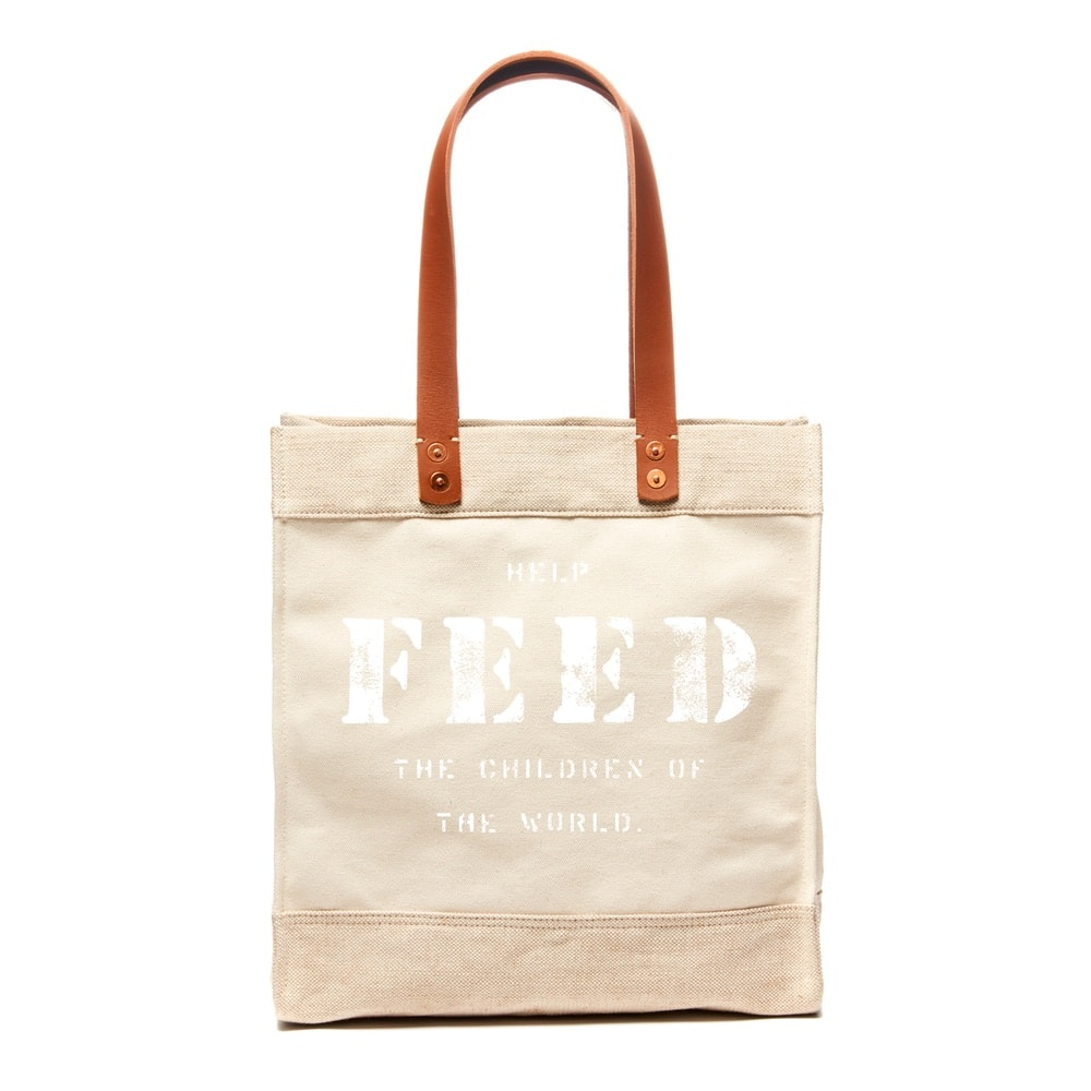 FEED's travel collection's market tote in tan