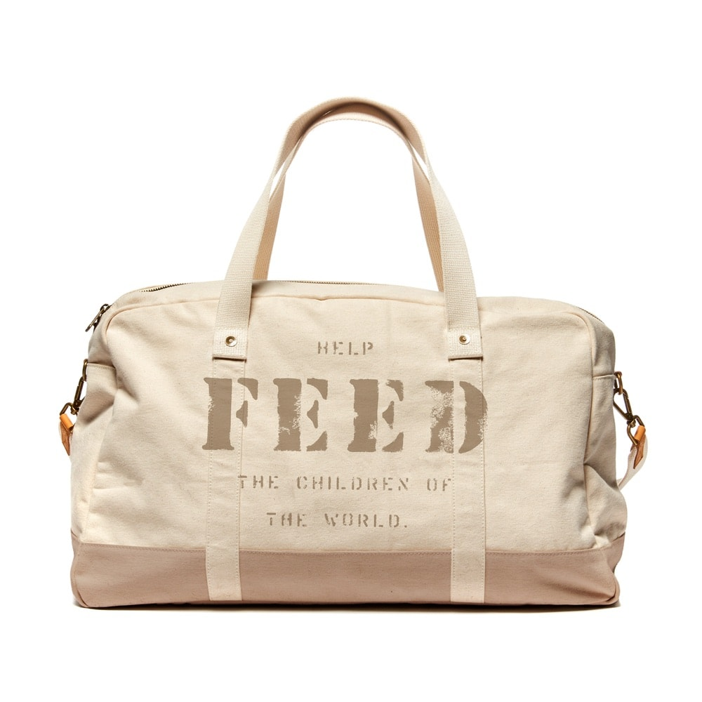 FEED's travel collection's weekender bag in tan