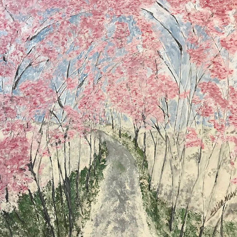 Jessica Hathorn's painting inspired by the Botanical Gardens in Birmingham, Alabama
