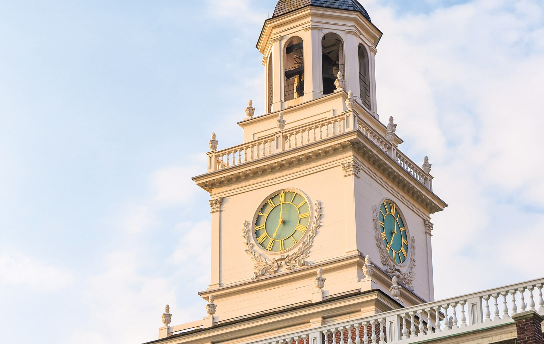 Centennial tower clock for Independence Hall in Philadelphia