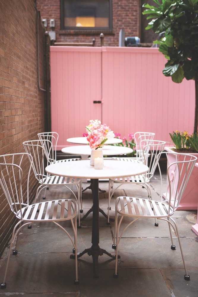 Joye & Rose, The Curated's patio café, is a perfect summertime spot offering espresso, tea, sandwiches, and pastries.