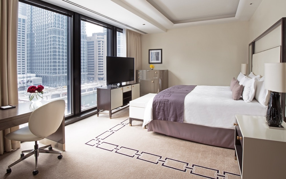 Deluxe premier river view one bedroom at Langham Hotel Chicago.
