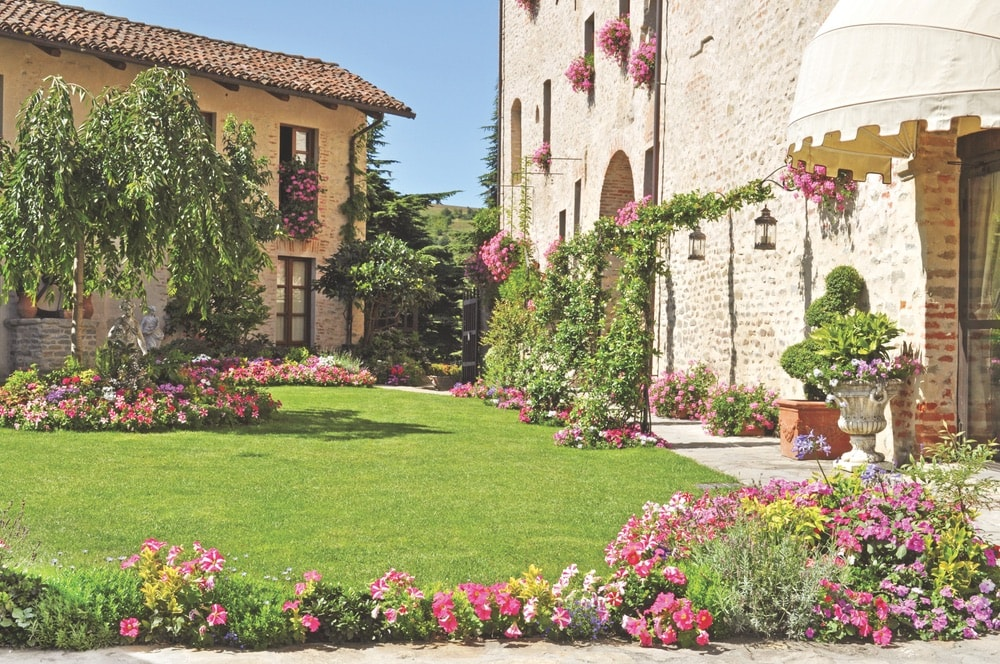 Strolling around the well-maintained grounds of Castello di Sinio is sure to be a delight as Pardini plans her gardening so that there is something in bloom year-round.