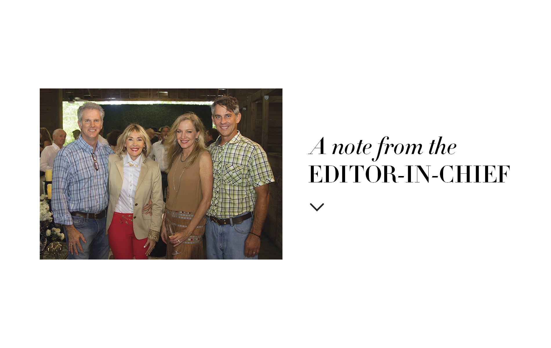 Gerald and Lisa Burwell, VIE's publisher and editor-in-chief, respectively, with Laurie and Taylor Hood