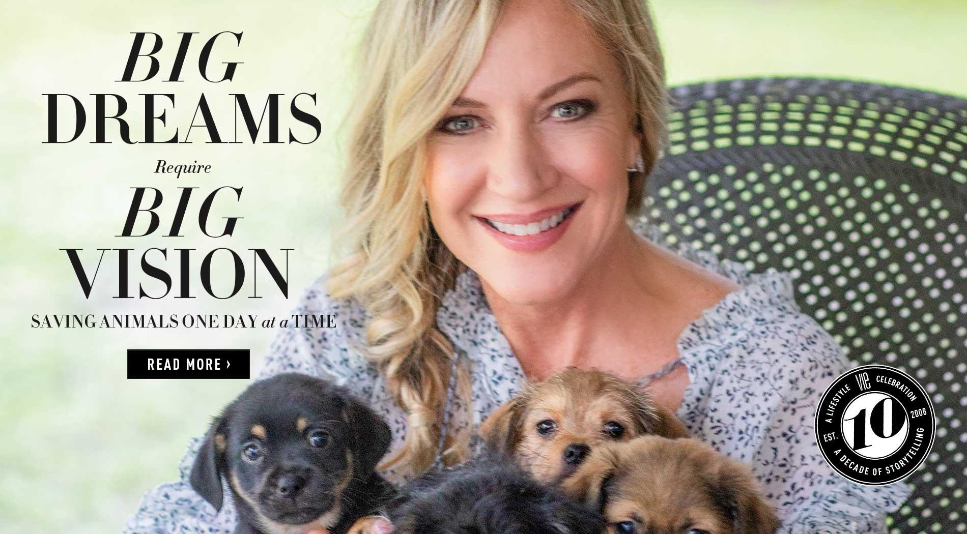 VIE Magazine - August 2018 Animal Issue - Alaqua Animal Refuge Laurie hood