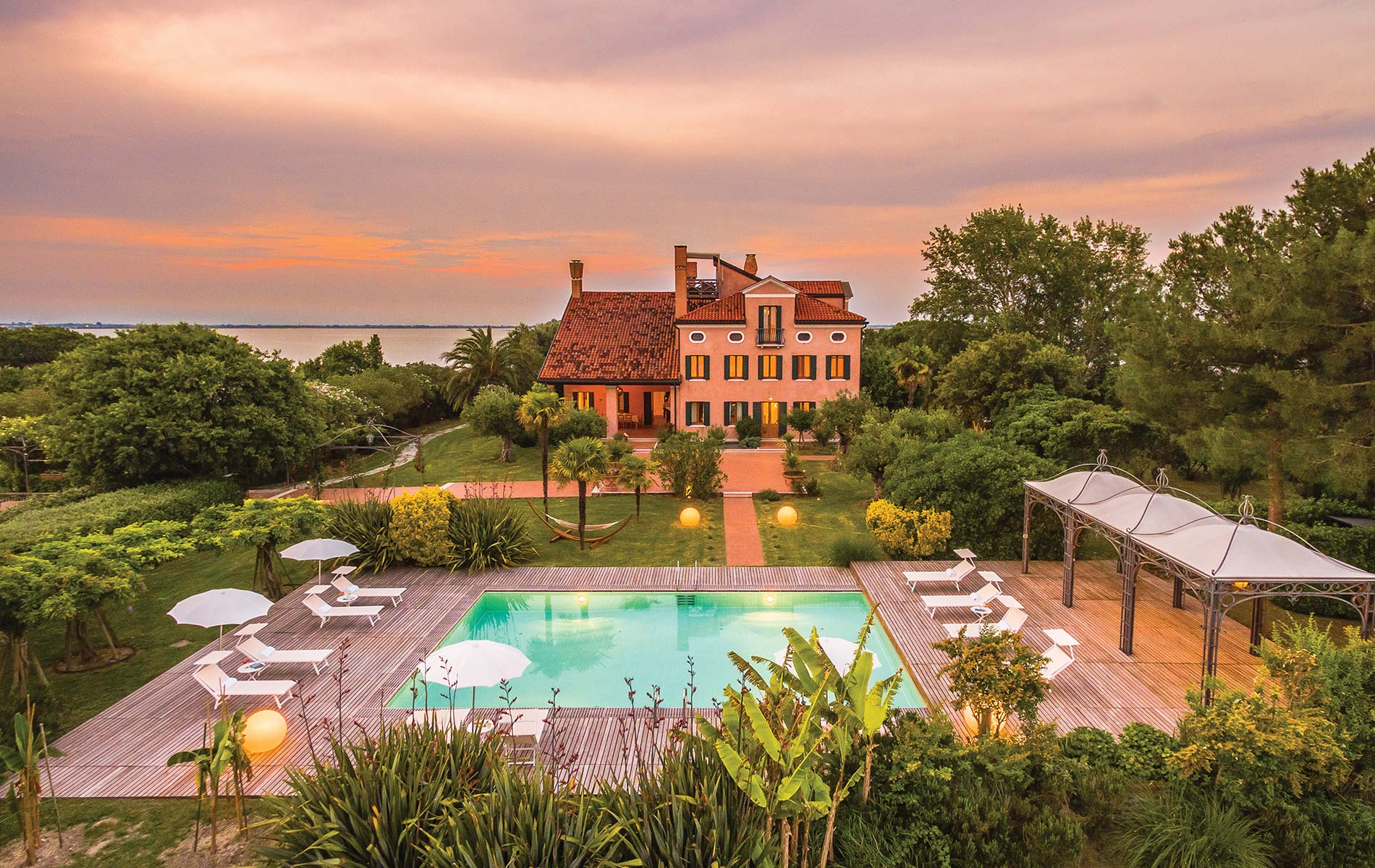The 1920s Villa Ammiana is now a beautiful and sustainable eco-lodge just a half-hour boat ride from Venice on the private island of Santa Cristina.