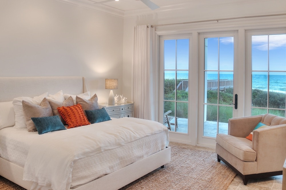Bedroom that overlooks the Gulf at the compound