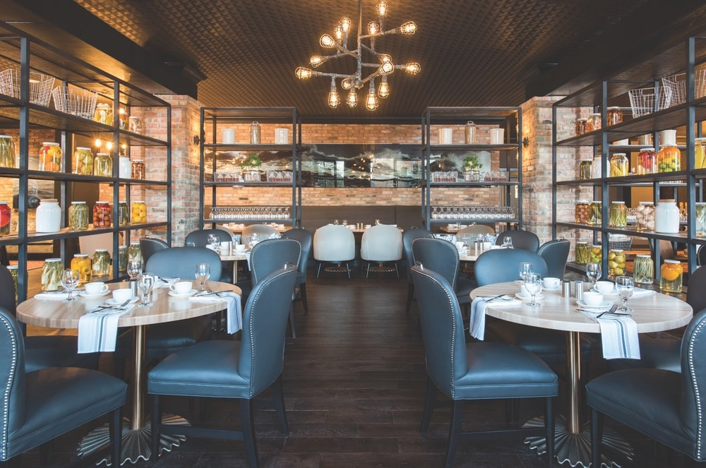 Launch is a trendy restaurant with an upscale and urban vibe.