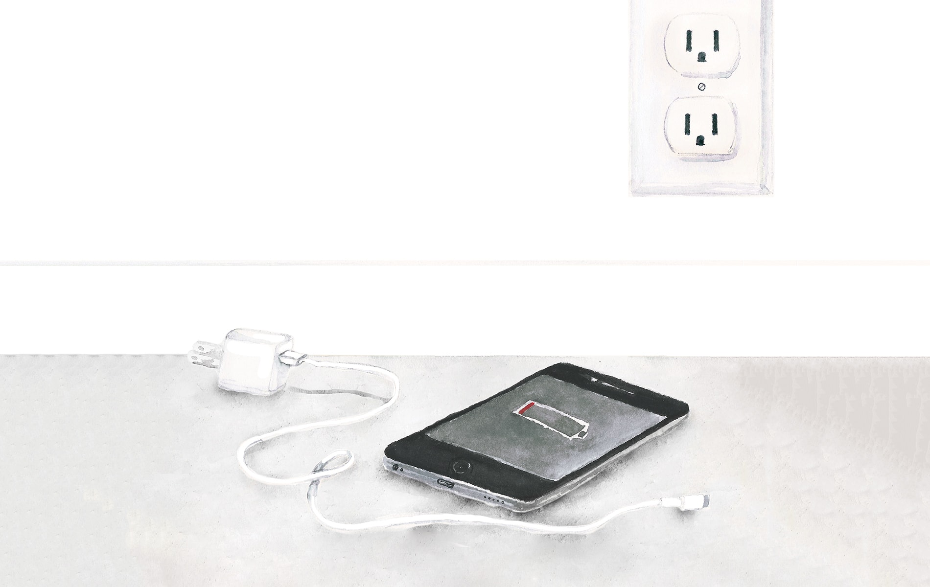 unplug tech column, iphone illustration