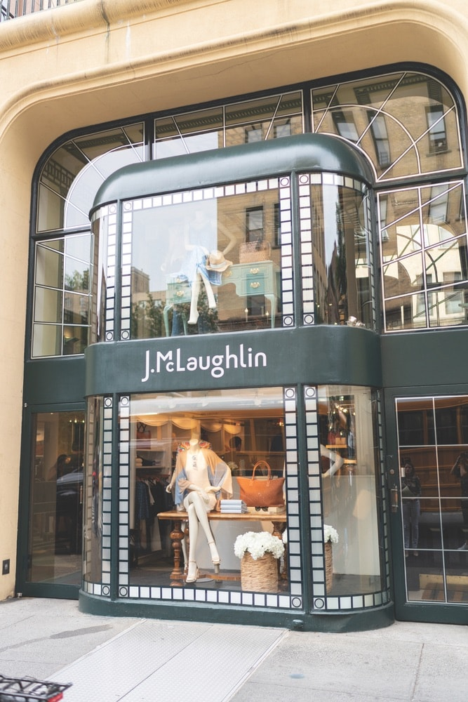 The original J.McLaughlin flagship store in New York's Upper East Side on Madison Avenue