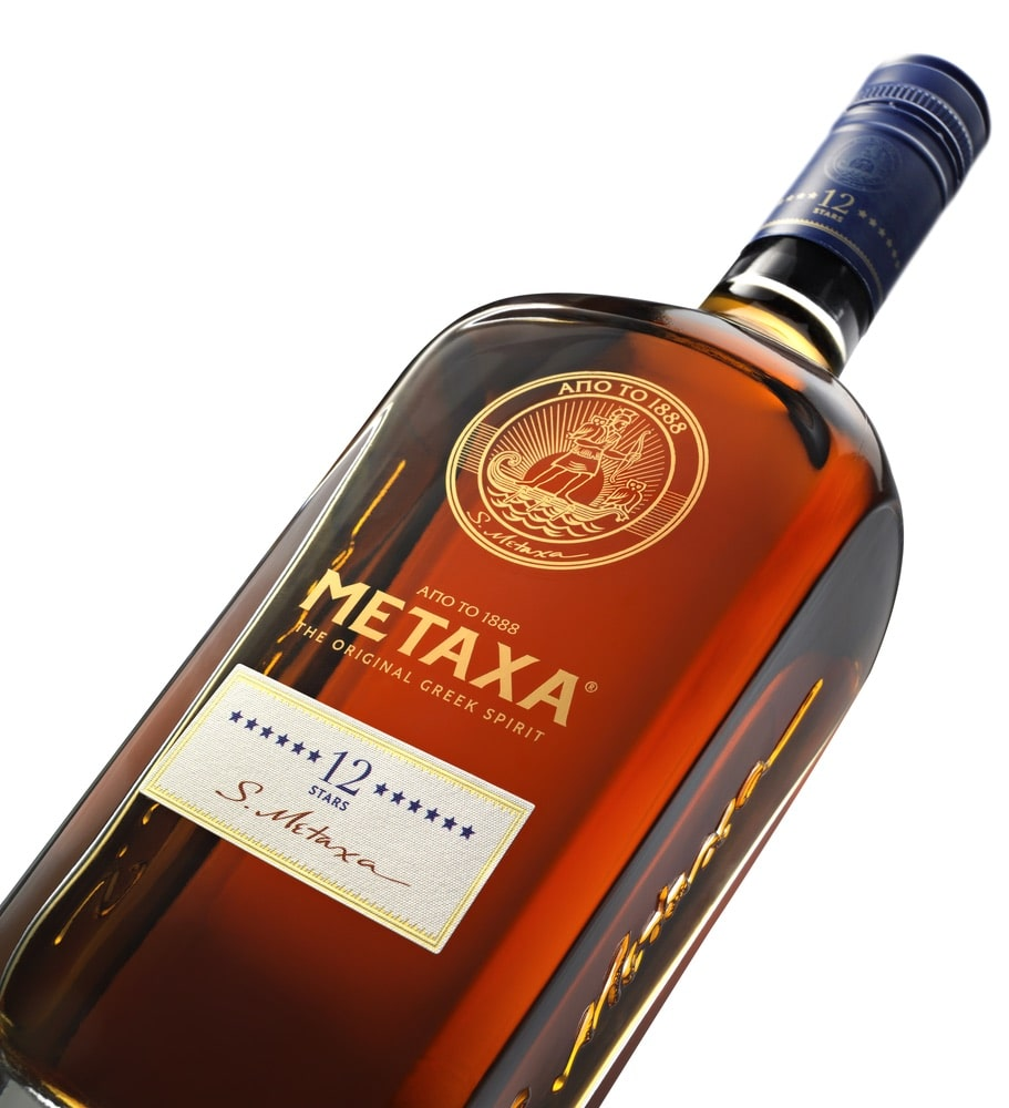 A bottle of Metaxa 12 stars