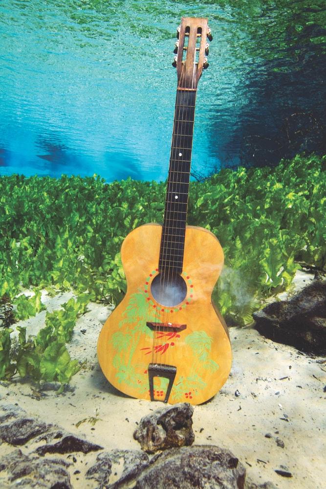 guitar under water