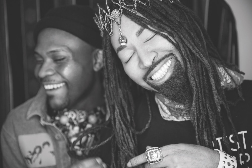 DapperAfrika and Ty Hunter laughing