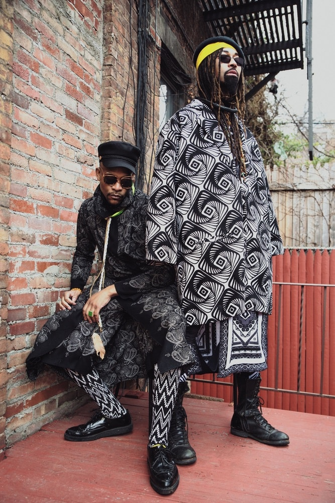 DapperAfrika and Ty Hunter modeling clothes