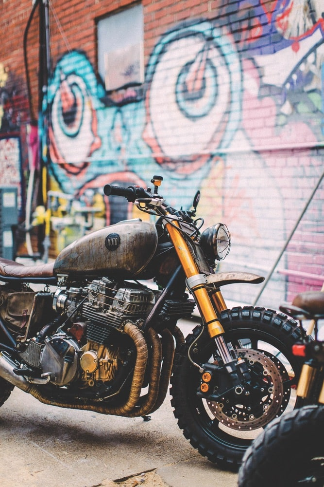 Classified Moto, a custom bike shop in Richmond, Virginia, was on the scene with creations including Daryl Dixon's famous hog from The Walking Dead.