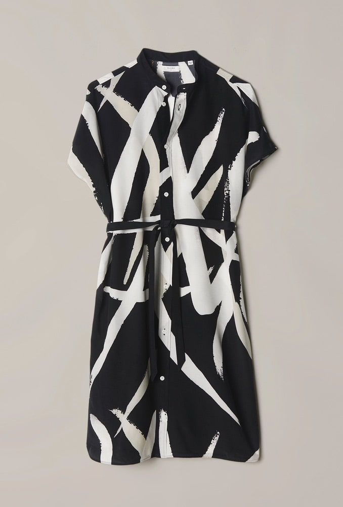 Kelso Dress in Black/Cream