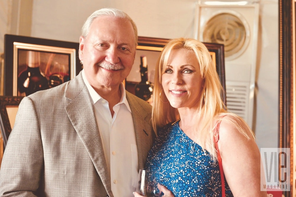 Glenn and Dana Armentor at the Destin Charity Wine Auction Foundation (DCWAF) event