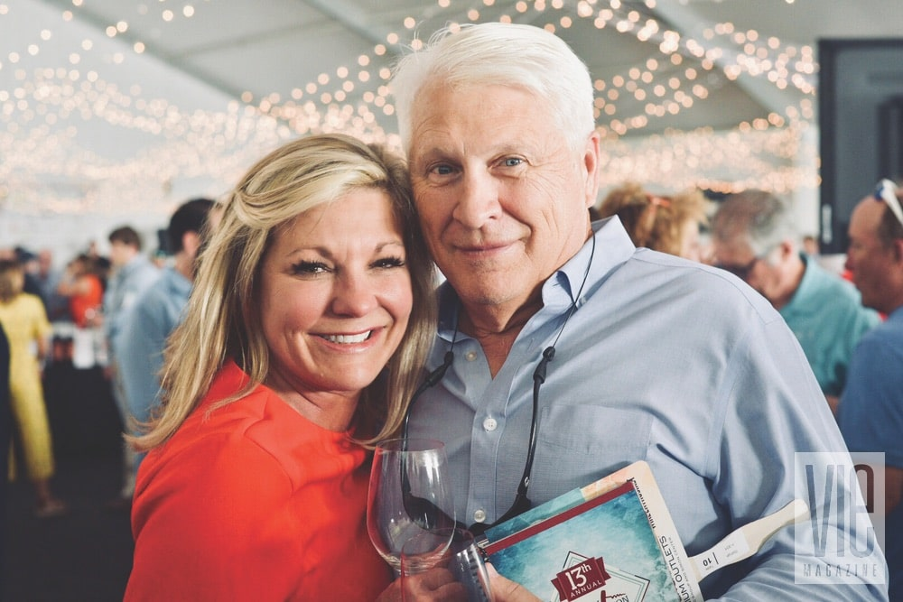 Mike and Deidra Stange at the Destin Charity Wine Auction Foundation (DCWAF) event