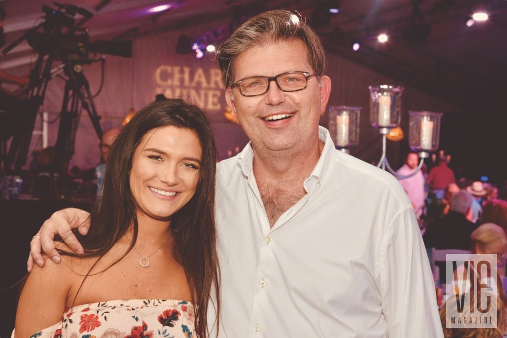 Zoe Babcock and Rob Babcock at the Destin Charity Wine Auction Foundation (DCWAF) event