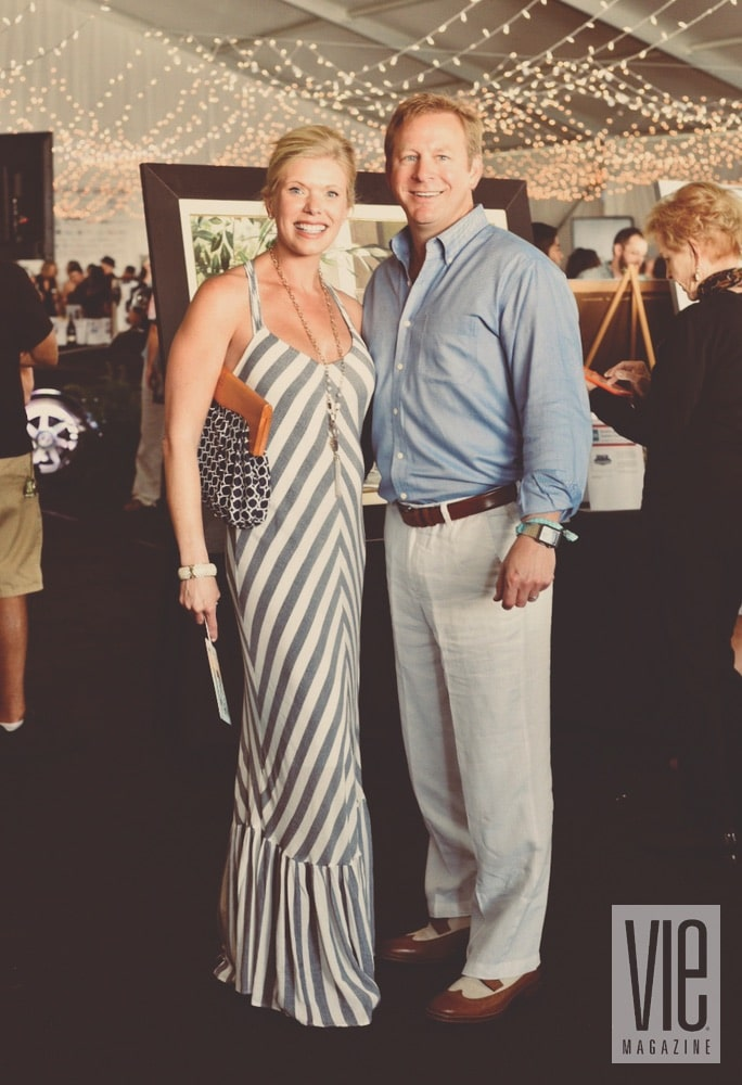 Dr. Dennis and Glenda Lichorwic at the Destin Charity Wine Auction Foundation (DCWAF) event
