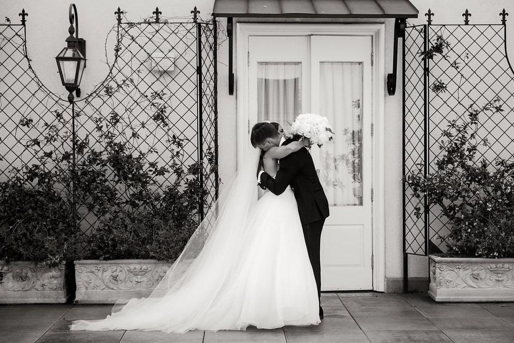 Ellie Romair and Alex Alford hugging
