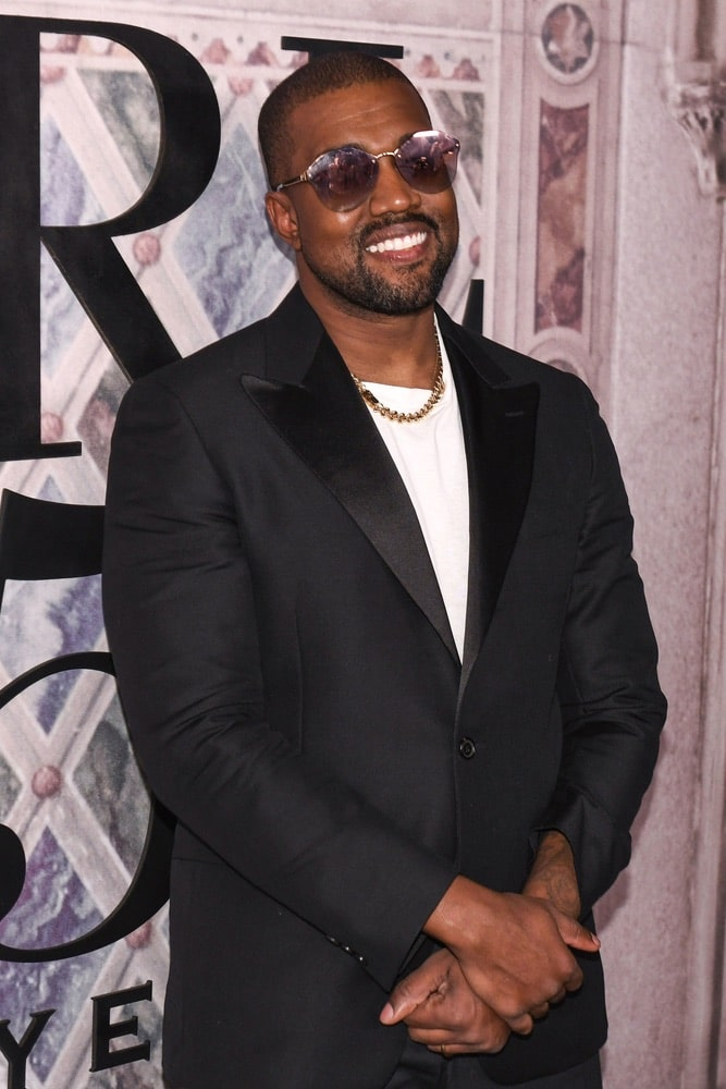 Kanye West at Ralph Lauren's Fall 2018 50th Anniversary runway show at NYFW