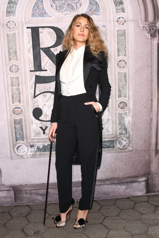 Blake lively at Ralph Lauren's Fall 2018 50th Anniversary runway show at NYFW