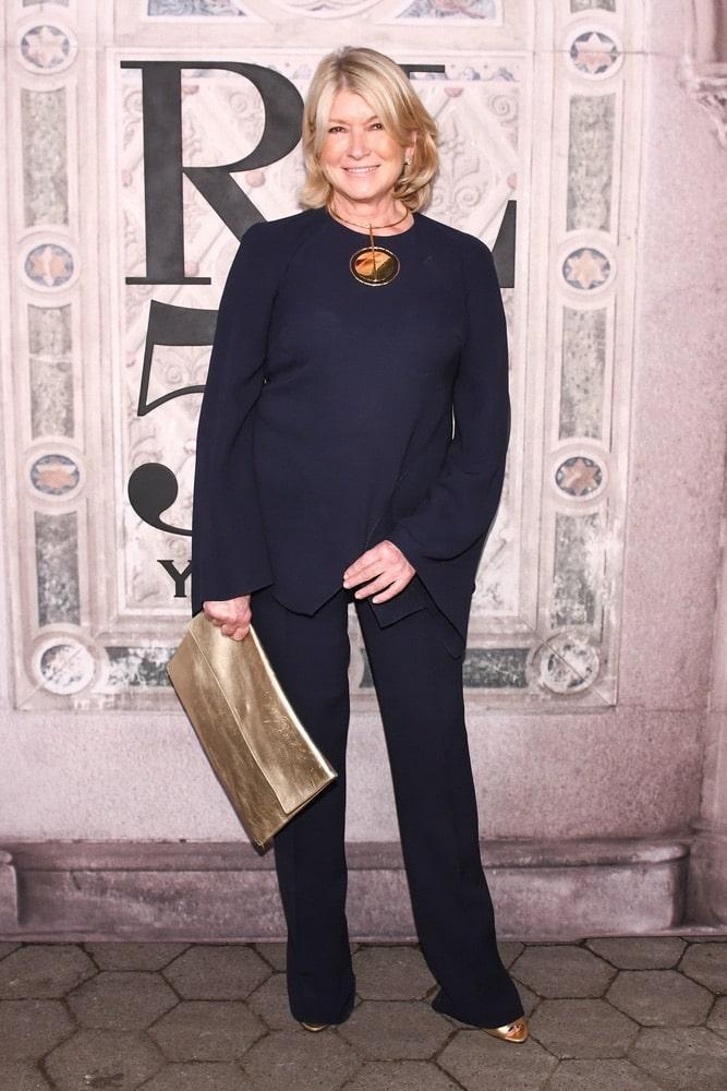 Martha Stewart at Ralph Lauren's Fall 2018 50th Anniversary runway show at NYFW