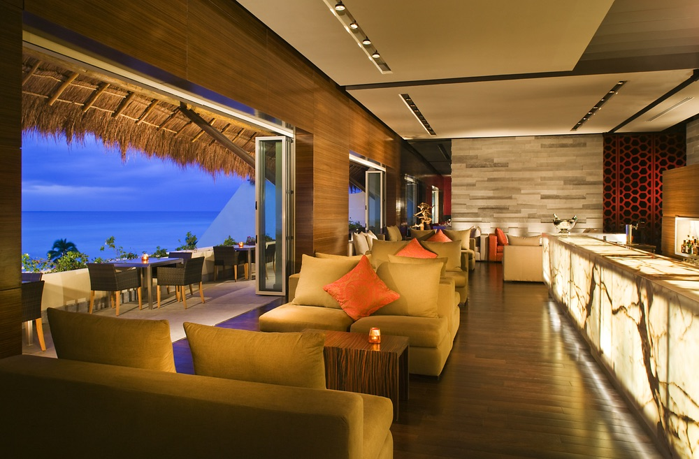 Restaurant with a beach view at the Grand Velas Riviera Maya