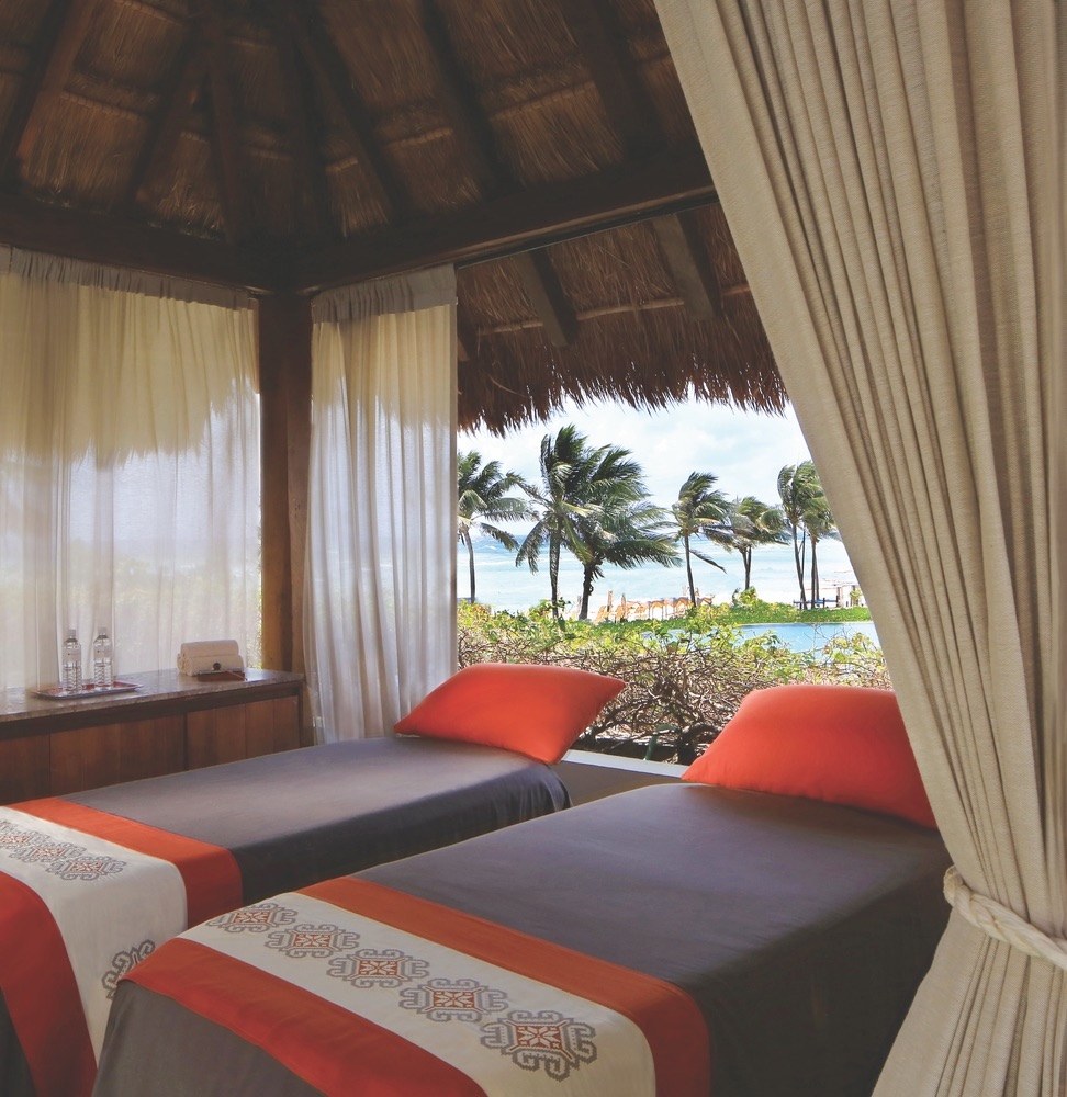 Spa with a beach view at the Grand Velas Riviera Maya