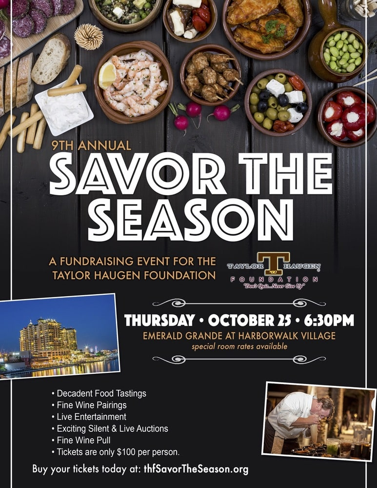 Taylor Haugen Foundation's Savor the Season fundraising event at the Emerald Grande in Harborwalk Village in Destin, Florida