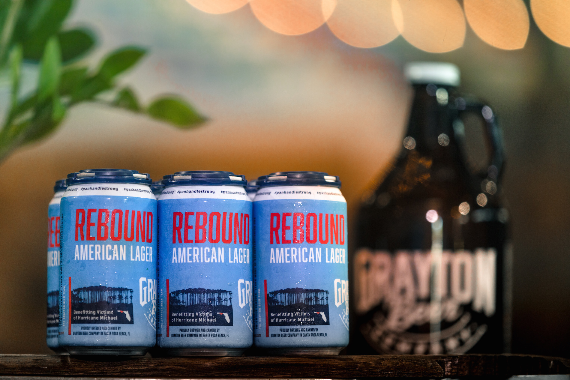 Grayton Beer Company Rebound American Lager for Hurricane Michael relief November 2018
