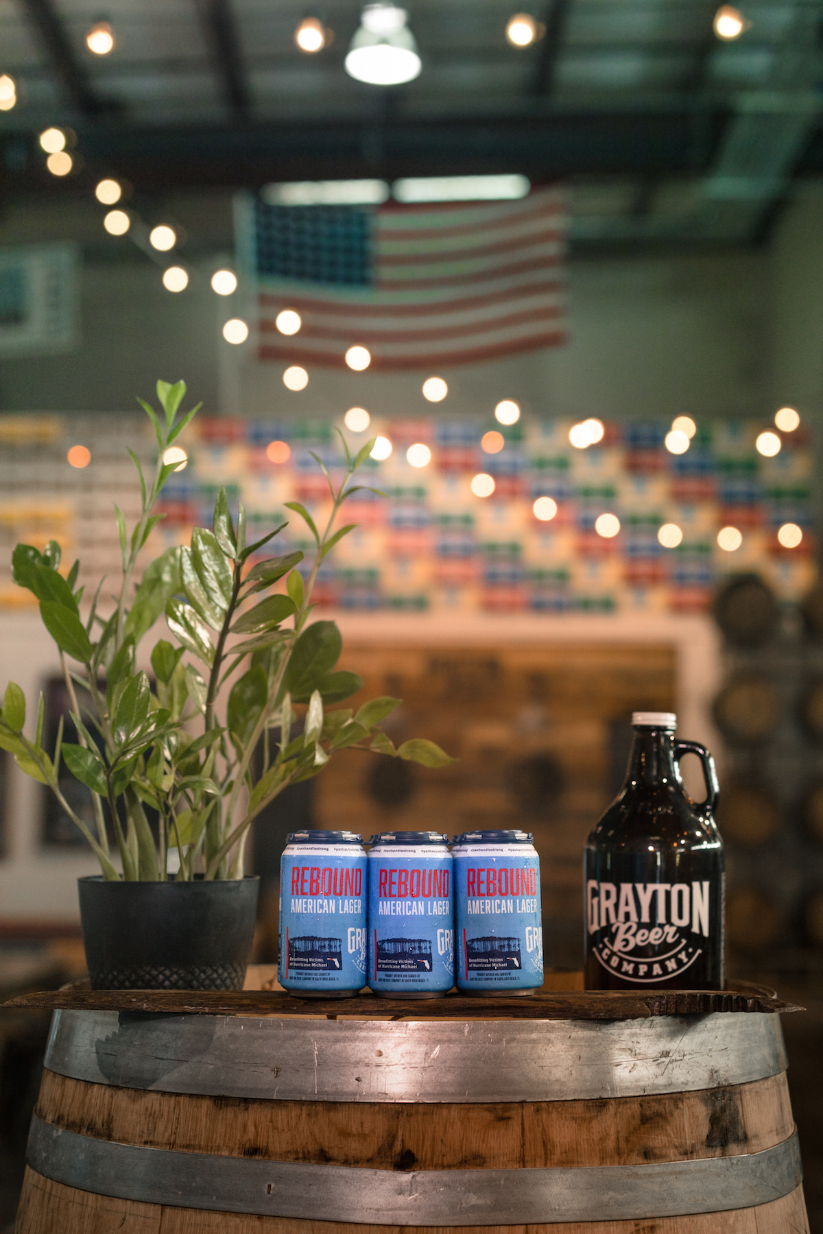 Rebound American Lager by Grayton Beer Company Fundraiser for Hurricane Michael Relief