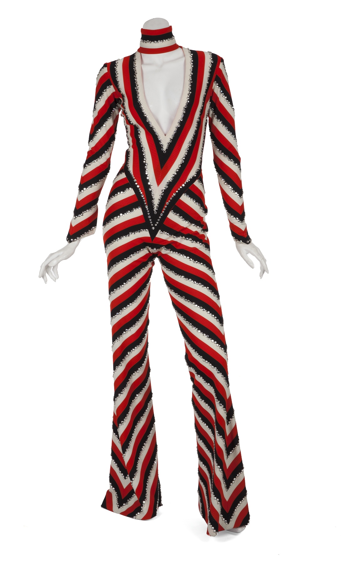Cher striped jumpsuit by Bob Mackie for auction November 2018