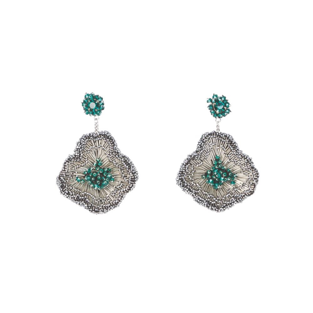 Mignonne Gavigan Emilia Earring in Emerald