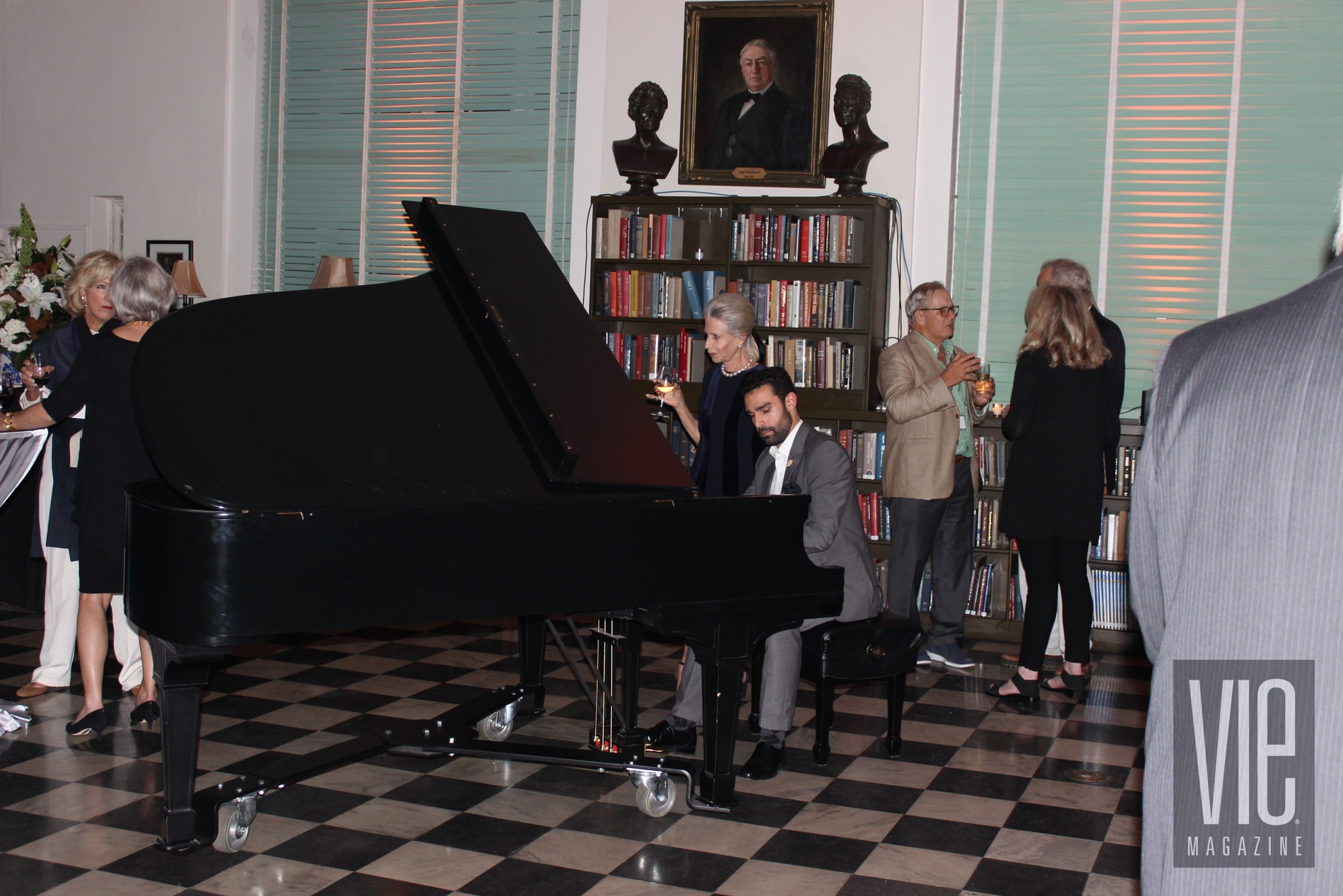 John-Anthony Thevos performs on piano at Opening Night Gala sponsored by VIE at Charleston Library Society