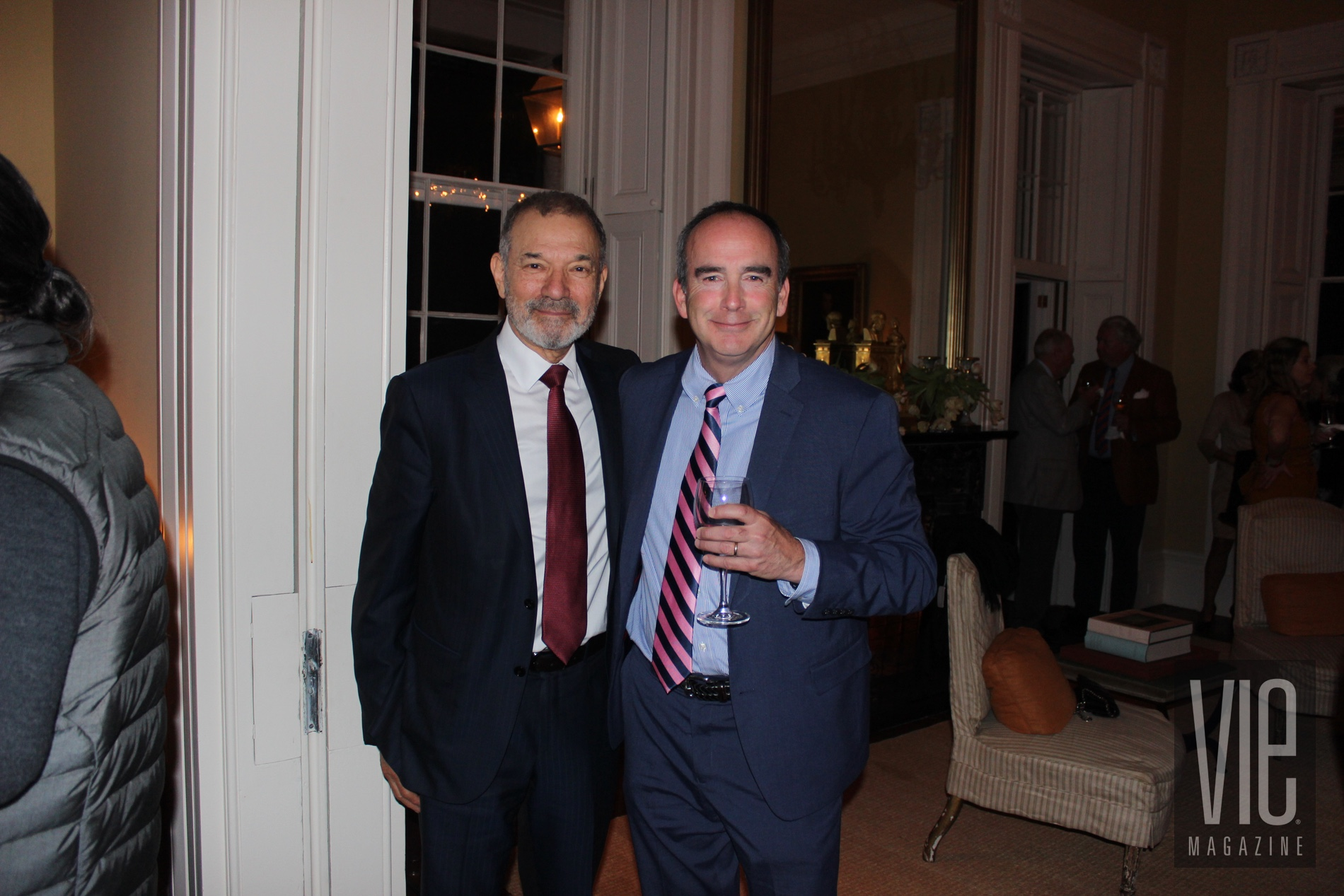 Author Stephen Greenblatt with Tom Duffey at Charleston to Charleston Literary Festival 2018 VIE Magazine