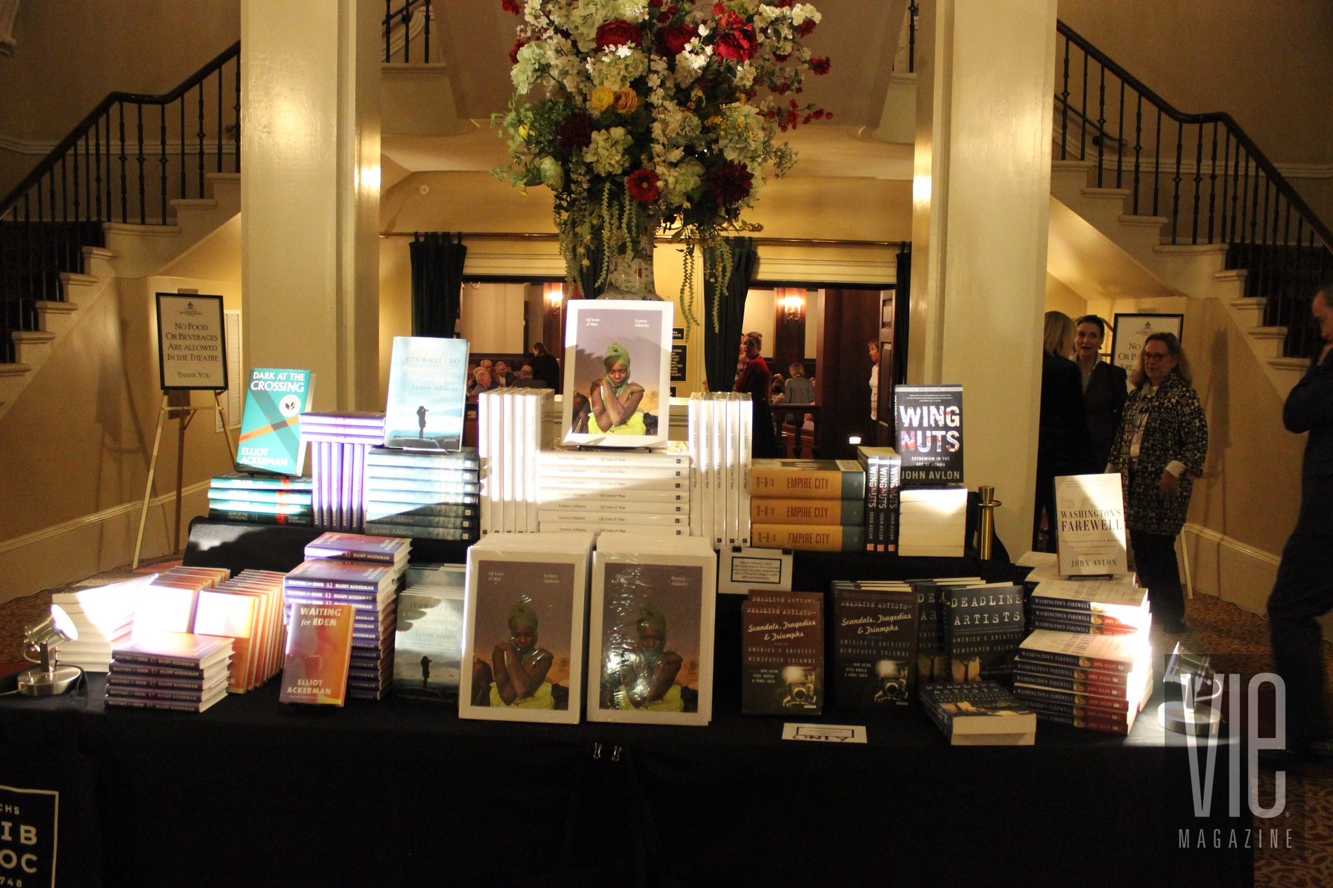 Books on display for purchase at Dock Street Theatre during Charleston to Charleston Literary Festival 2018 VIE magazine