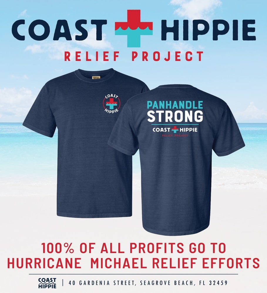Coast Hippie Hurricane Michael Relief Project; Florida Panhandle; Panhandle Strong