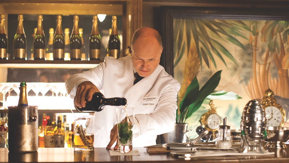 Mixologist Colin Field works the bar at Bar Hemingway in the famed Hôtel Ritz Paris.