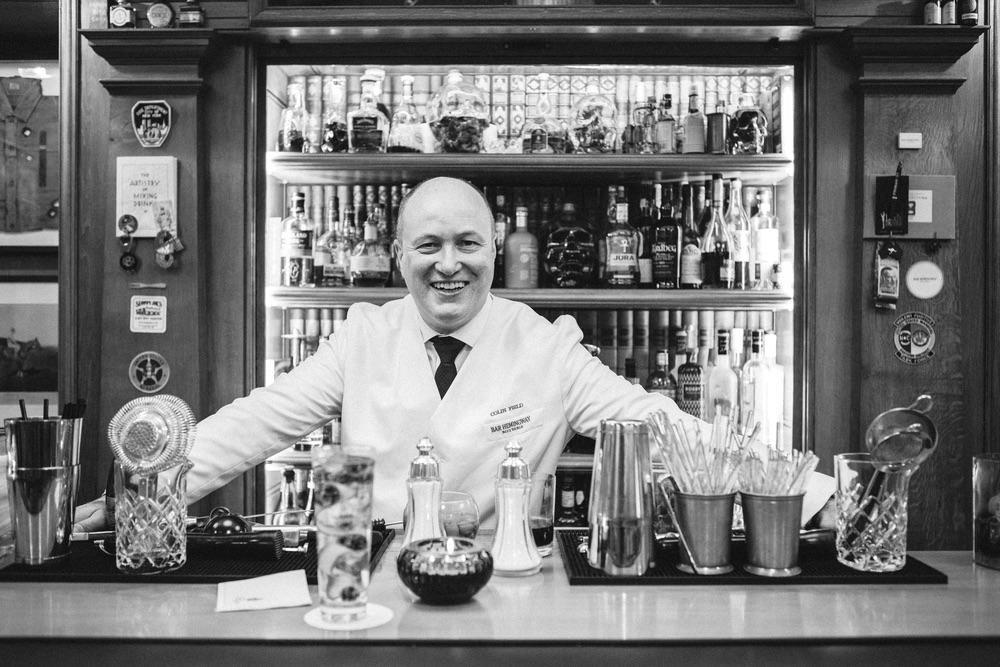Mixologist Colin Field works the bar at Bar Hemingway in the famed Hôtel Ritz Paris