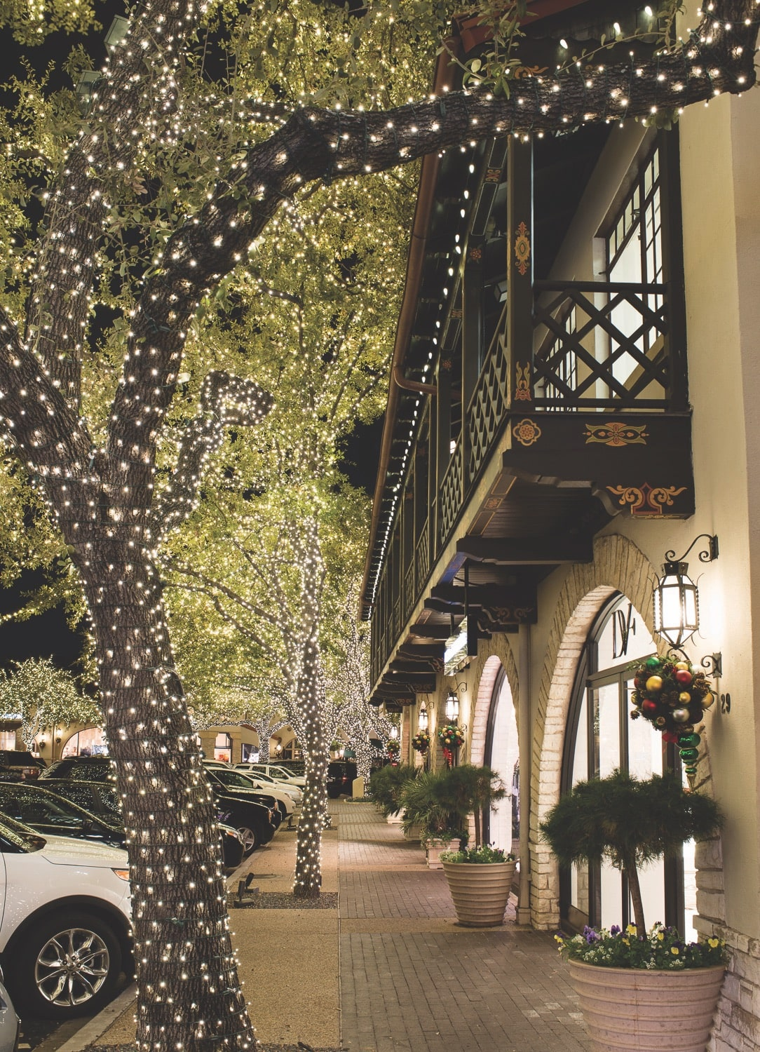 Highland Park Village at the holidays