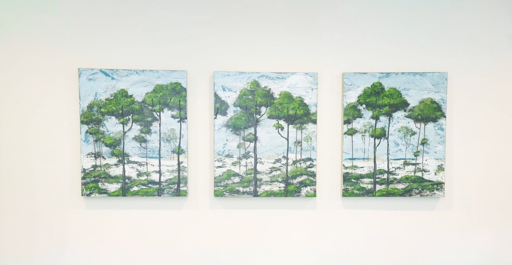 Paintings by Allison Wickey in the Emerald Coast Association of Realtors office